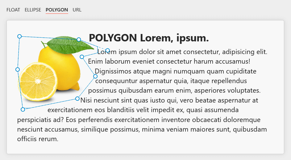 lemon polygon